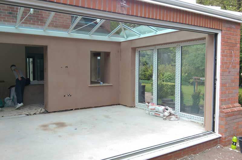 Conservatory Plastering